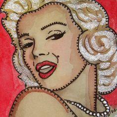 Marilyn Monroe - Print of Original Watercolor. by D. Evans || This image first pinned to Marilyn Monroe Art board, here: http://pinterest.com/fairbanksgrafix/marilyn-monroe-art/ ||
