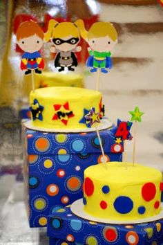 Colorful and Bright Superhero Birthday Party