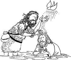 Jesus baptism  Church Bulletin Board Ideas  Pinterest  All