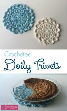 How to Crochet Doily Trivets || Free Crochet Pattern and tutorial on www.craftaholicsanonymous.net