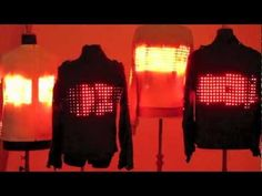 5000 LEDs embedded in leather jackets create wearable computing jackets designed by Cute Circuit for U2's next tour. via youTube bit.ly/JgoJJP (April 2012) #performance #LED #music