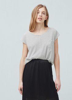 Camiseta algodón orgánico -  Mujer | MANGO España