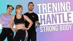 Strong body to trening, który pomoże, wzmocnić ciało, wymodelować sylwetkę i poprawić sprawność. To trening siłowy w domu – do wykonania potrzebne są tylko hantle. Przetrenujemy wszystkie partie ciała! To co, zaczynamy? Strong Body, Bra, Fitness, Sports, Youtube, T Shirt, Women, Hs Sports, Supreme T Shirt