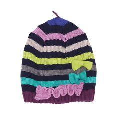 Multi-coloured pull-on hat from Deux Par Deux.