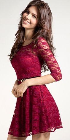 Such a cute lace dress!