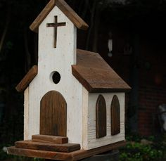 Rustic Old Country Church Birdhouse Vintage by EmmaKatesDesigns