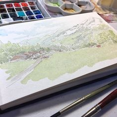 Busy scanning sketches from my watercolor sketchbook for my next art book. 2016! Yay!  This particular sketch was from the Swiss countryside in Gruyère of the B&B we stayed at. Absolutely loved it there and will definitely go back! . . . . . . #nature #beautiful #adventure #scenery #landscape  #travel  #view  #outdoors #trip #wanderlust  #fun #Europe #Switzerland  #picoftheday #instagood #beauty #naturelovers #amazing #photooftheday  #instatravel #traveling #art #sketch #sketchbook…