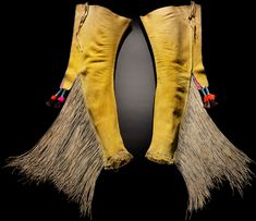Infinity of Nations: Art and History in the Collections of the National Museum of the American Indian - George Gustav Heye Center, New York  comanche leggings 1890