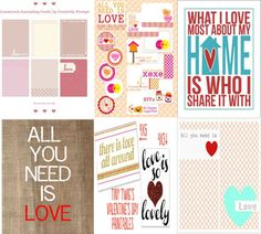 6 Love Freebie Printables for Project Life