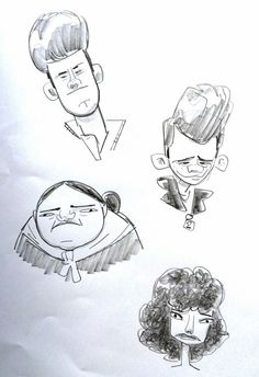 all work ©Ian Abando 2012 Character Sketches, Character Design References, Gesture Drawing, Life Drawing, Z Arts, Cartoon Characters, Art Inspo, Inventions, Concept Art