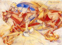 The Red Horseman - Carlo Carra -