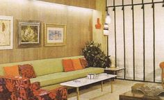 The 1960s had a mixture of modern and traditional styles. Here, we ...