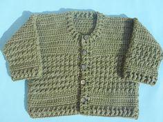 Crochet - Crosia Free Patttern Urdu, Hindi Video Tutorials: Crochet Baby Cardigan