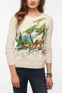 BDG Paint By Number Pullover Sweater  #UrbanOutfitters looks like em, cindy painted this picture