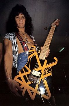 "Edward Van-Halen's Charvel ""Bumblebee"" guitar that was buried with Dimebag Darrell"