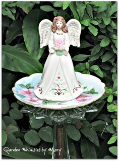Lenox Porcelain Angel Garden Totem Stake   by GardenWhimsiesByMary, $30.00
