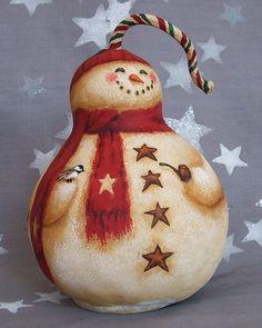 Fat Snowman Gourd