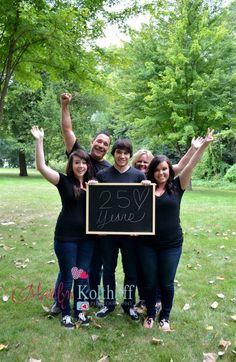 Fun anniversary photo idea family