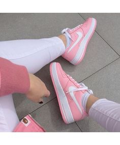 Nike Air Force 1 Low GS Pure Platinum Gamma Blue Pink