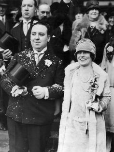 Alfred Hitchcock and Alma Reville on their wedding day.  She was a fascinating woman...