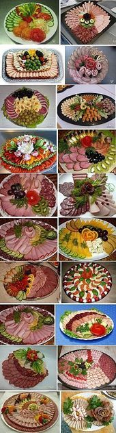 18 Catering Pins to check out - ideas - Buffet Ideen Meat Trays, Meat Platter, Food Platters, Deli Tray, Cheese Trays, Fruit Trays, Party Snacks, Appetizers For Party, Appetizer Recipes