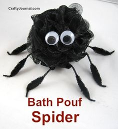Bath Pouf Spider by Crafty Journal
