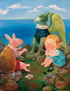 """Alice in Wonderland: Alice and the Mock Turtle (Евгения Гапчинская «Алиса в стране чудес»   """"Картинки и разговоры"""")"""