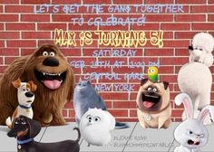 Secret Life of Pets Invitation Personalized by Busymommyprintables