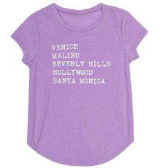 Girls 7-16 & Plus Size Harper & Elliott Curve Hem Graphic Tee, Size: Xxl Plus, Drk Purple