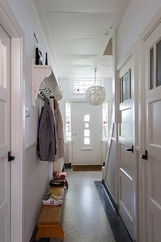 House Inspiration, House Design, New Homes, Interior Design, Mudroom, Home, Interior, 1930s House, Hallway Inspiration