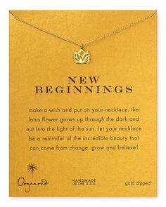 """Dogeared New Beginnings Necklace, 18"""""""