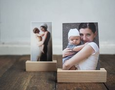 """photo holder - photo stand - wooden print display - photo display - card holder - for photographers - home decor- 13cm or 10cm long (4"""" 5"""")"""