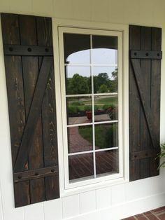 Z style shutters custom shutters stained by ALittleCurbAppeal