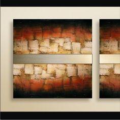 Cuadro Abstracto Arte 100% Original Metal + Textura + Color