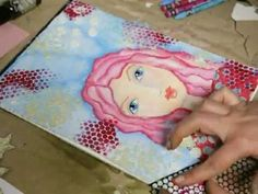 * Mixed Media Painting - Shoot for the Stars * - YouTube