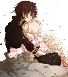 IS THIS MAVIS AND ZEREF?!?!?! If so... OMG ZEREF LOOKS HAPPY FOR ONCE AND THEY ARE SO FRICKING CUTE!!!!!!!!