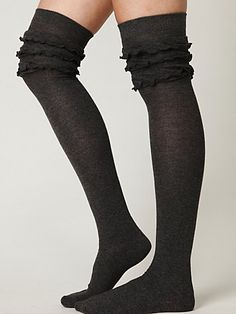 Petticoat Tall Sock Wear with Boots and Leggin's Tall Socks, Boot Socks, High Socks, Cute Socks, Awesome Socks, Vogue, Chiffon, What To Wear, Style Me