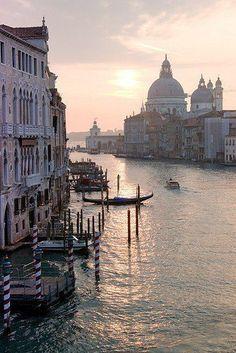 Beautiful Venice at sunset