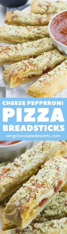 Easy Cheesy Pizza Breadsticks Need a last minute snack for a Game Day? Easy Cheesy Pizza Breadsticks are a classic crowd-pleasing appetizer. - Need a last minute snack for a Game Day? Easy Cheesy Pizza Breadsticks is crowd-pleasing appetizer recipe. No Cook Appetizers, Appetizer Dishes, Food Dishes, Appetizer Recipes, Delicious Appetizers, Dishes Recipes, Avacado Appetizers, Prociutto Appetizers, Gastronomia