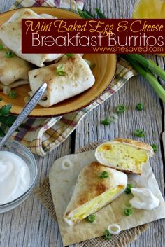 Make these Mini Egg & Cheese Breakfast Burritos for a healthy breakfast that is also great for on the go!