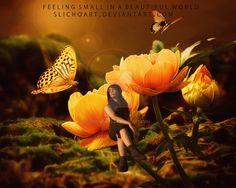 Feeling small in a beautiful world by SlichoArt on DeviantArt