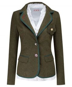 """Elegant and tailored, this effortless jacket brings charm to your style. With contrast trims and a stunning detachable corsage, layer over one of our blouses for a romantic look. Approx Length: 65cm Our model is: 5'9""""  Blouse  sold separately"""
