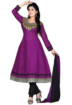 Experience the unique combination of paisley motifs & sheer comfortless by draping this fabulous salwar suit that is sure to turn heads around