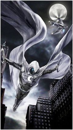 Moon Knight Not my usual thing on here.but I do enjoy me some Moon Knight. Marvel Comic Universe, Marvel Comics Art, Marvel Comic Books, Comics Universe, Comic Book Characters, Comic Book Heroes, Marvel Heroes, Marvel Characters, Comic Character