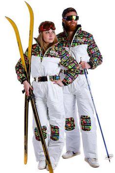 3818f311b2 80s Neon Ski Suit - The Tony Montana - Shinesty Ski Onesie, Neon Outfits,
