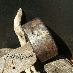 """Oxydes"" Bangle  - Cernit  Polymer  clay"