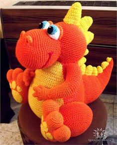 dragon dino amigurumi crochet dinosaurs or dragon by innakozachuk