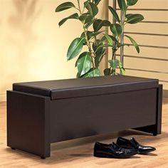 Monarch Specialties I 2511 Storage Bench with Cushion Seat
