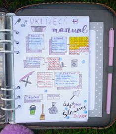 Organizace úklidu Diary Planner, Flat Ideas, Home Organization, Clean House, Happy Life, Cleaning Hacks, Diy And Crafts, Knitting Patterns, Manual