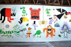 Mural & Exhibit Ed Emberley, Exhibit, Illustrator, Mixed Media, Gallery, Art, Art Background, Roof Rack, Kunst